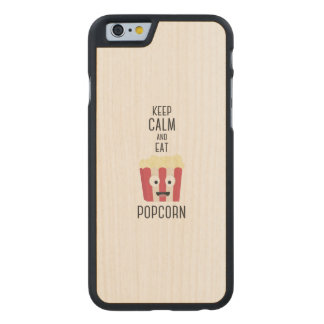Eat Popcorn Z6pky Carved® Maple iPhone 6 Slim Case