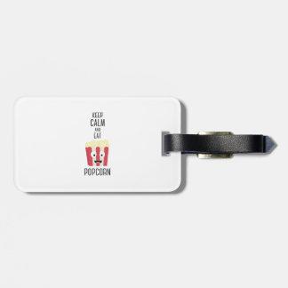 Eat Popcorn Z6pky Luggage Tag