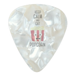 Eat Popcorn Z6pky Pearl Celluloid Guitar Pick