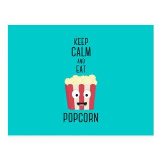 Eat Popcorn Z6pky Postcard