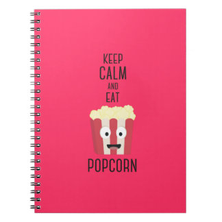 Eat Popcorn Z6pky Spiral Note Book