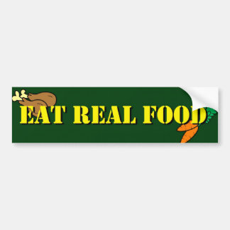 Eat Real Food Bumper Sticker