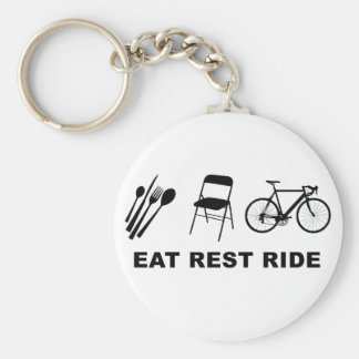 Eat Rest Ride Keychain