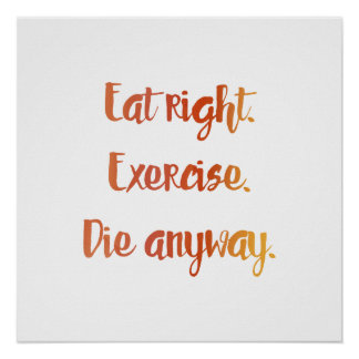 Eat Right Poster