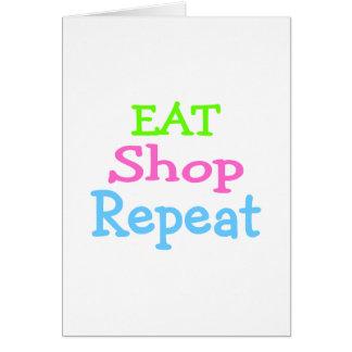 Eat Shop Repeat 2 Card