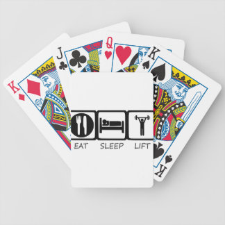 EAT SLEEP17 BICYCLE PLAYING CARDS