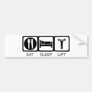 EAT SLEEP17 BUMPER STICKER