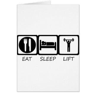 EAT SLEEP17 CARD