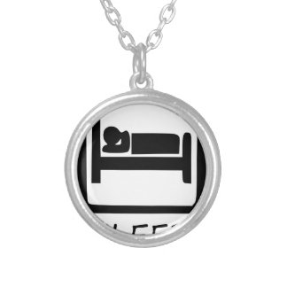 EAT SLEEP19 SILVER PLATED NECKLACE