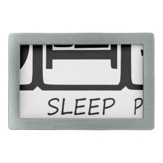 EAT SLEEP41 RECTANGULAR BELT BUCKLES