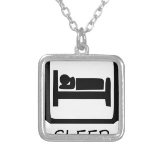 EAT SLEEP9 SILVER PLATED NECKLACE
