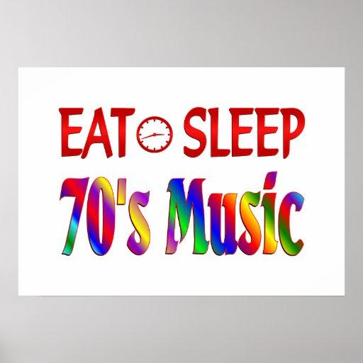 Eat Sleep 70's Music Print
