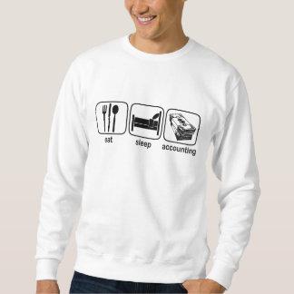 Eat Sleep Accounting Pull Over Sweatshirt