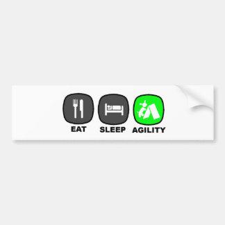 Eat. Sleep. Agility. Green. Bumper Sticker