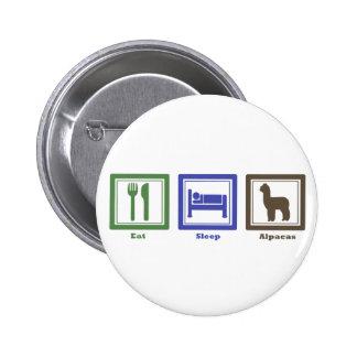 Eat Sleep Alpacas Pinback Buttons