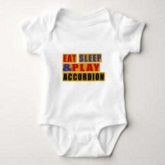 Eat Sleep And Play ACCORDION Baby Bodysuit