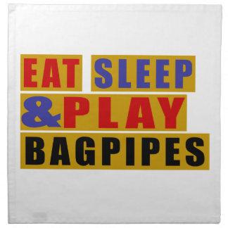 Eat Sleep And Play BAGPIPES Napkin