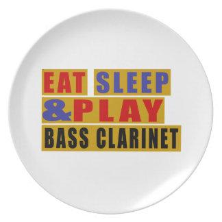 Eat Sleep And Play BASS CLARINET Dinner Plates