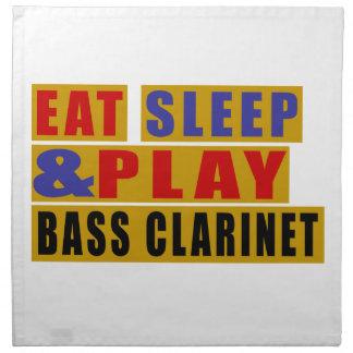 Eat Sleep And Play BASS CLARINET Napkins