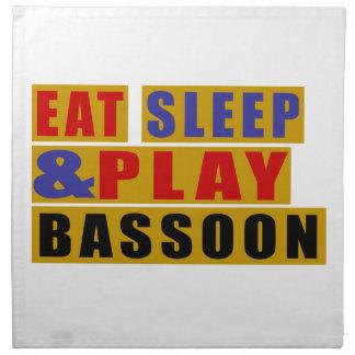 Eat Sleep And Play BASSOON Napkin