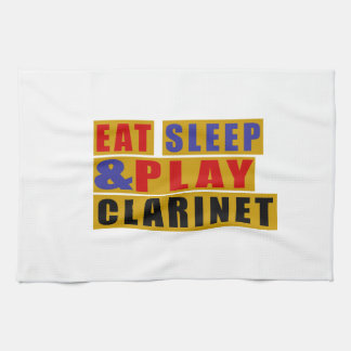 Eat Sleep And Play CLARINET Hand Towels