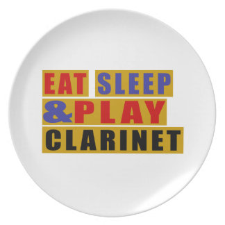Eat Sleep And Play CLARINET Party Plate