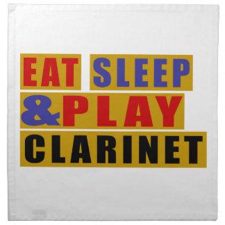Eat Sleep And Play CLARINET Printed Napkins