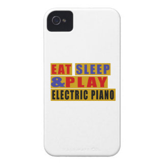 Eat Sleep And Play ELECTRIC PIANO iPhone 4 Case-Mate Case