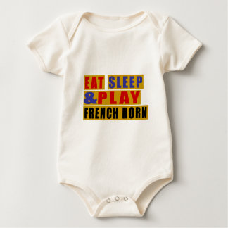 Eat Sleep And Play FRENCH HORN Baby Bodysuit