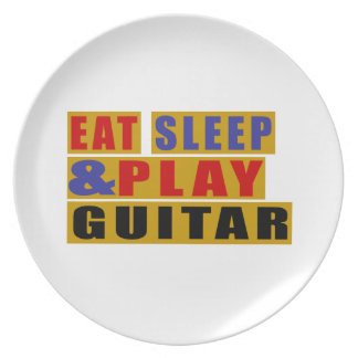 Eat Sleep And Play GUITAR Party Plates