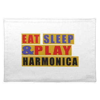 Eat Sleep And Play HARMONICA Place Mats