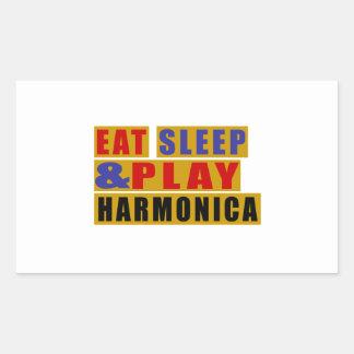 Eat Sleep And Play HARMONICA Sticker