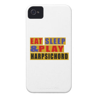 Eat Sleep And Play HARPSICHORD Case-Mate iPhone 4 Case