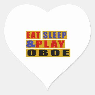 Eat Sleep And Play OBOE Heart Sticker