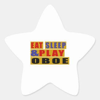 Eat Sleep And Play OBOE Star Sticker