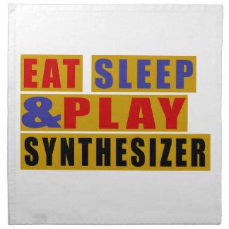 Eat Sleep And Play SYNTHESIZER Napkin