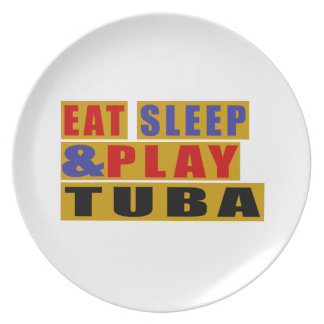 Eat Sleep And Play TUBA Dinner Plates