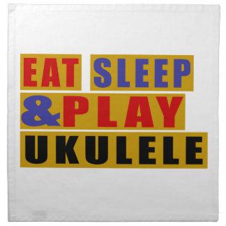 Eat Sleep And Play UKULELE Napkin