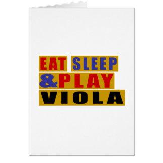 Eat Sleep And Play VIOLA Card