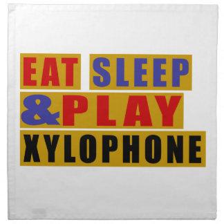 Eat Sleep And Play XYLOPHONE Napkin