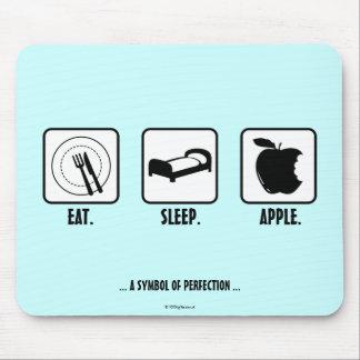Eat. Sleep. Apple. Mouse Pad