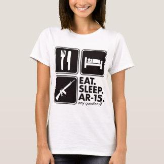 Eat Sleep AR-15 - Black T-Shirt