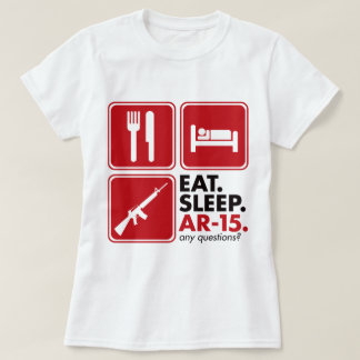 Eat Sleep AR-15 - Red T-Shirt