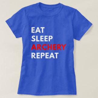 Eat Sleep Archery Repeat (Women's T-Shirt) T-Shirt