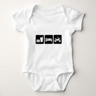 Eat Sleep ATV Baby Bodysuit