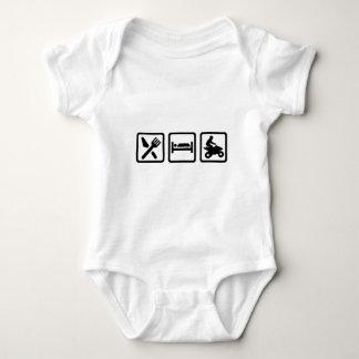 Eat sleep ATV Quad Baby Bodysuit