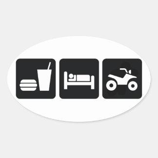 Eat Sleep ATV Stickers