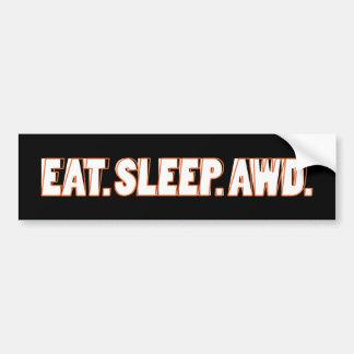 Eat. Sleep. AWD. Car Bumper Sticker