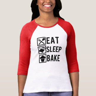 Eat Sleep Bake funny baker women's shirt