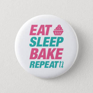 Eat Sleep Bake Repeat 2 Inch Round Button